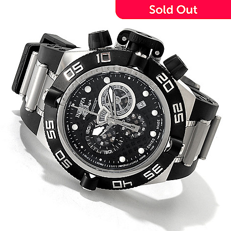 607-336 - Invicta 50mm Subaqua Noma IV Swiss Chronograph Bracelet Watch w/ Three-Slot Dive Case