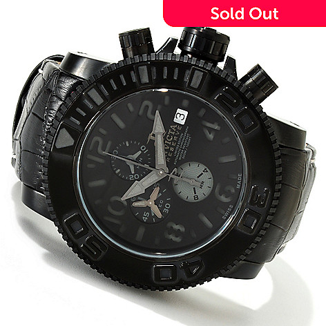 607-351 - Invicta Reserve Men's Sea Hunter Swiss Made A07 Valgranges Automatic Strap Watch w/ 3-Slot Dive Case