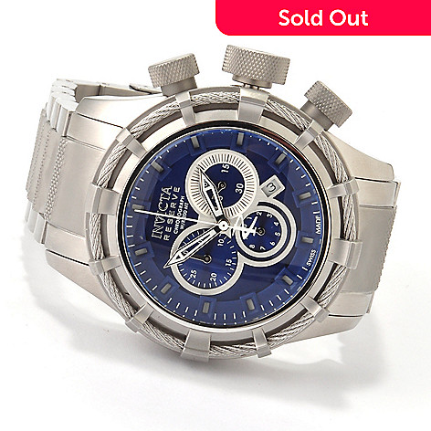 607-354 - Invicta Reserve Men's Bolt Swiss Chronograph Bracelet Watch w/ 3-Slot Dive Case