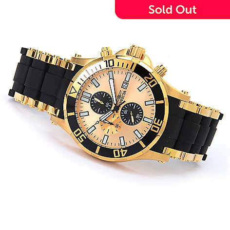 607-356 - Invicta 50mm Sea Spider Quartz Chronograph Stainless Steel & Polyurethane Bracelet Watch