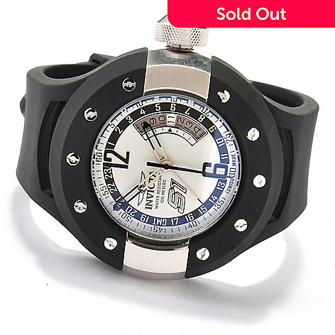 607-368 - Invicta Men's S1 Racer Swiss Made GMT Stainless Steel Strap Watch