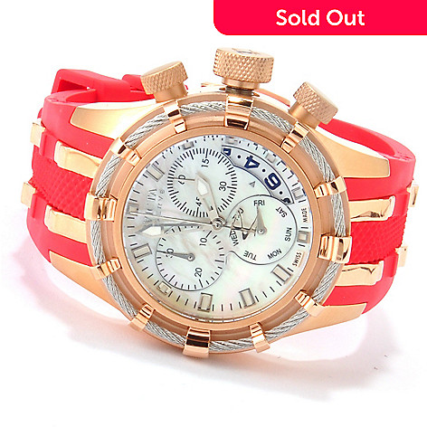 607-369 - Invicta Reserve Women's Bolt Swiss Made Quartz Chronograph Strap Watch w/ Three-Slot Dive Case