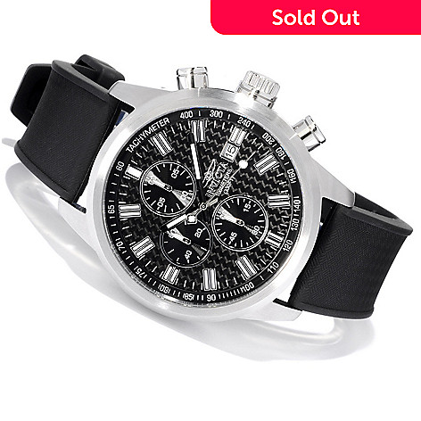 607-374 - Invicta Men's Specialty Quartz Chronograph Stainless Steel Case Polyurethane Strap Watch