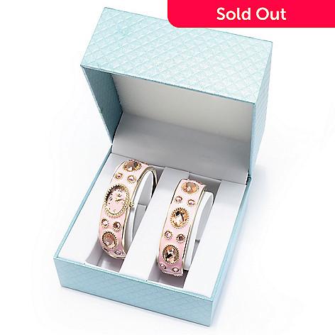607-394 - Lady Diva Women's Quartz Bangle Bracelet Watch w/ Coordinating Bangle