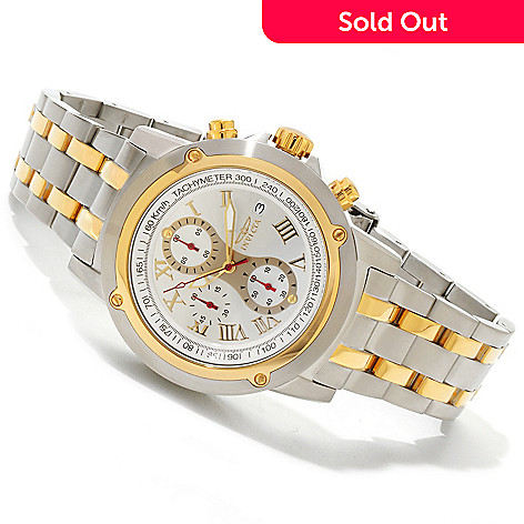 607-405 - Invicta Men's Specialty Quartz Chronograph Stainless Steel Bracelet Watch