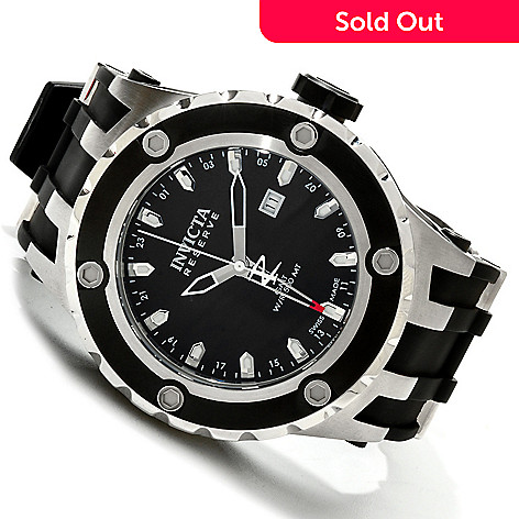 607-439 - Invicta Reserve Men's Specialty Subaqua Swiss GMT Strap Watch w/ 8-Slot Dive Case