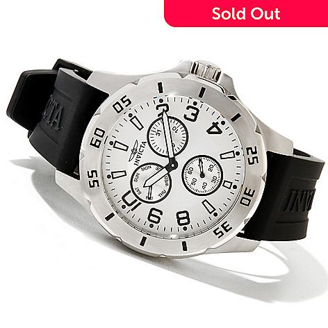 607-445 - Invicta Men's Specialty Stainless Steel Polyurethane Strap Watch