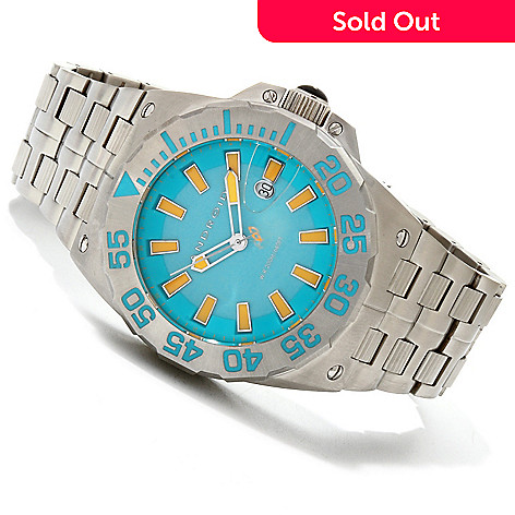 607-450 - Android Men's Divemaster Predator Stainless Steel Bracelet Watch