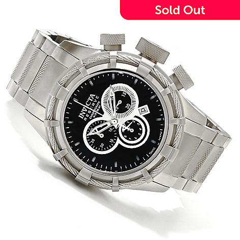 607-480 - Invicta Reserve Men's Bolt Swiss Chronograph Bracelet Watch w/ 3-Slot Dive Case