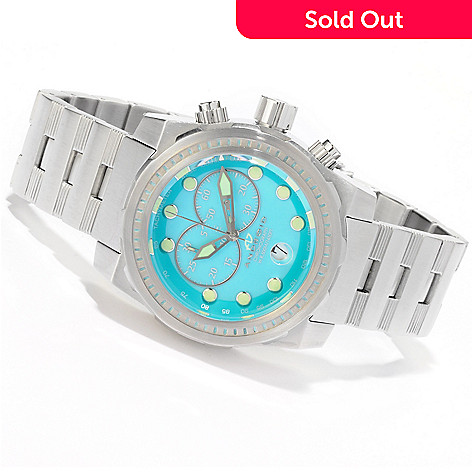 607-493 - Android Grand (50mm) or Mid-Size (45mm) Stance Quartz Chronograph Super Lume Dial Bracelet Watch