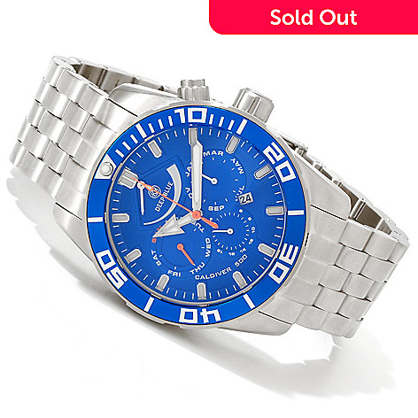 607-505 - Deep Blue Men's Caldiver 500 Automatic Stainless Steel Bracelet Watch
