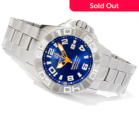 607-506 - Deep Blue Men's Bluetech Abyss 3D Diver Limited Edition Bracelet Watch