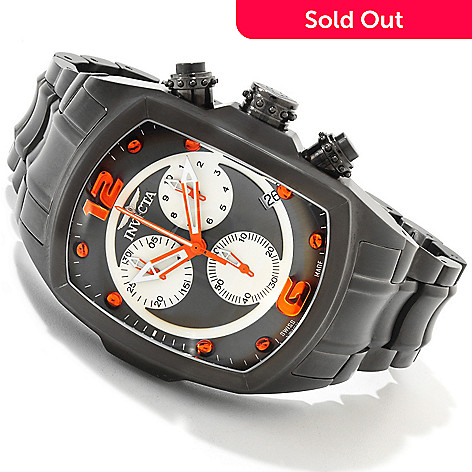 607-532 - Invicta Men's Lupah Revolution Swiss Chronograph Bracelet Watch w/ Three-Slot Dive Case