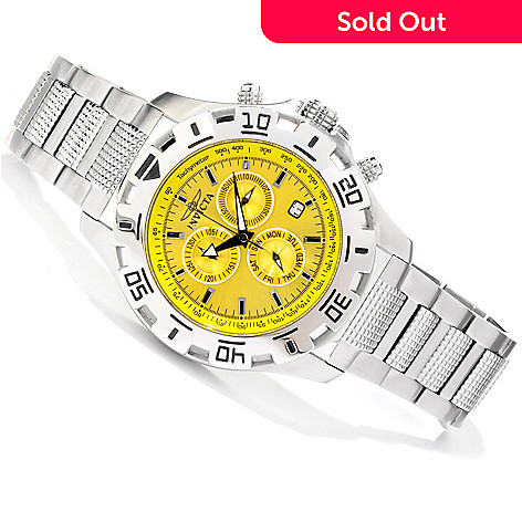 607-542 - Invicta Men's Python Sport Quartz Chronograph Bracelet Watch w/ 3-Slot Dive Case