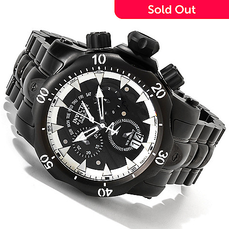 607-554 - Invicta Reserve Men's Venom Stealth Black Label Swiss Chronograph Watch w/ Four-Piece Strap Set