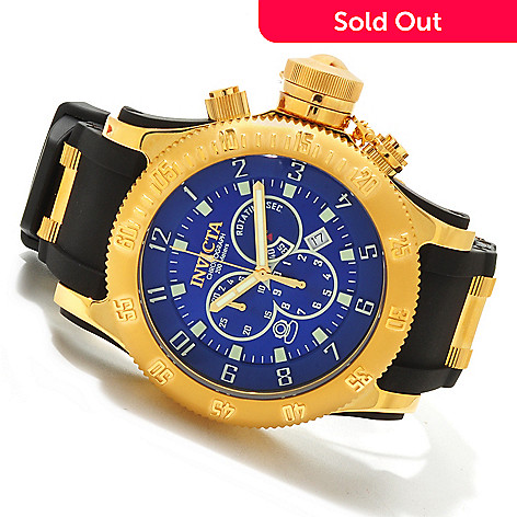 607-562 - Invicta Men's Russian Diver Off Shore Strap Watch w/ 8-Slot Dive Case