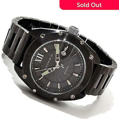 607-580 - Android Men's Virtuoso Limited Edition Swiss Automatic Ceramic Bracelet Watch