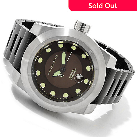 607-582 - Android Men's Volcano 50 Automatic Ceramic Bracelet Watch