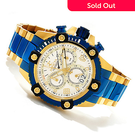 607-589 - Invicta Reserve 48mm Arsenal Swiss Made Quartz Chronograph Bracelet Watch w/ 3-Slot Dive Case