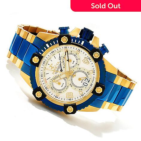 607-589 - Invicta Reserve 48mm Octane Swiss Quartz Chronograph Bracelet Watch w/ Three-Slot Dive Case