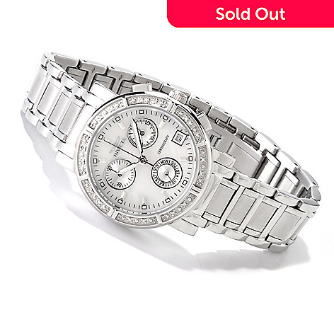 607-596 - Invicta Women's Classique Quartz Chronograph Diamond Accented Bracelet Watch
