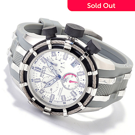 607-598 - Invicta Reserve Men's Bolt Swiss Made Quartz Chronograph Strap Watch w/ 8-Slot Dive Case