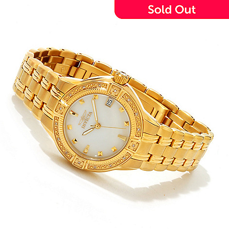 607-609 - Invicta Women's Wildflower Classique Diamond Accented Bracelet Watch