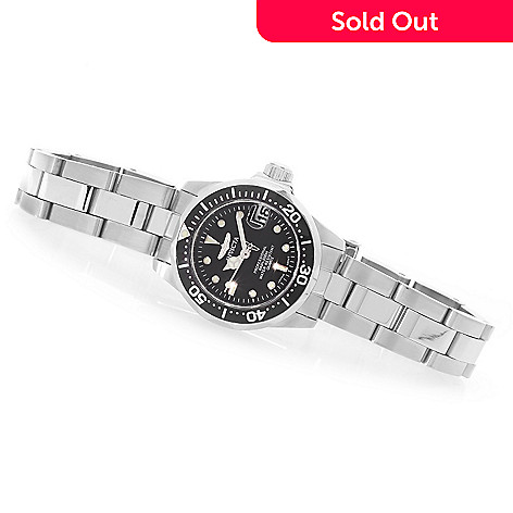 607-620 - Invicta Women's Pro Diver Mini Quartz Sunray Dial Stainless Steel Bracelet Watch