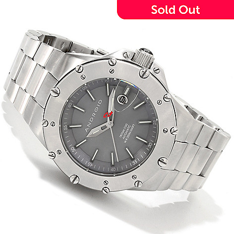 607-641 - Android Divemaster Enforcer T100 Automatic Stainless Steel Bracelet Watch
