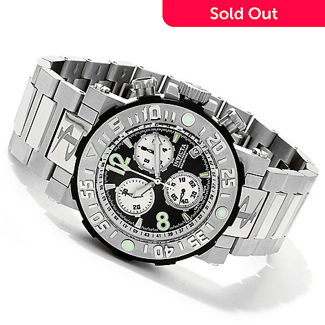 607-660 - Invicta Reserve Men's Sea Rover Swiss Chronograph Bracelet Watch w/ 8-Slot Dive Case