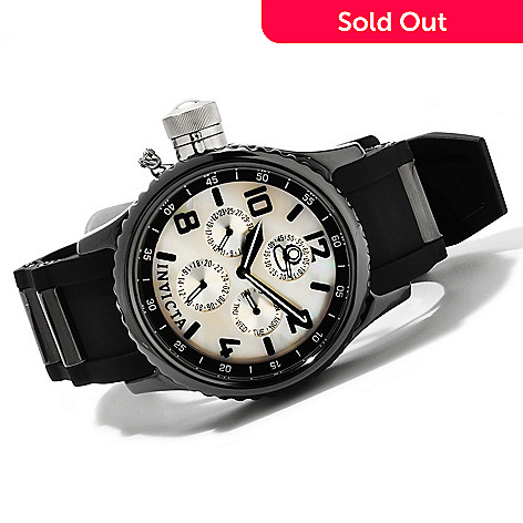 607-662 - Invicta Quinotaur Russian Diver Ceramic Quartz Multifunction Strap Watch