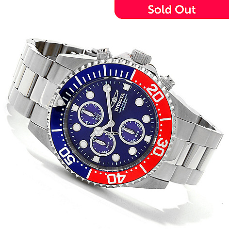 607-665 - Invicta Men's Pro Diver Quartz Chronograph Stainless Steel Bracelet Watch w/ Collector's Box