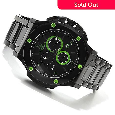 607-671 - Oniss Men's Bold Quartz Chronograph Ceramic Bracelet Watch