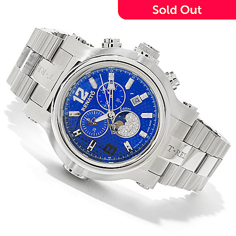 607-680 - Renato Men's T-Rex Diver Limited Edition Diamond Accented Bracelet Watch