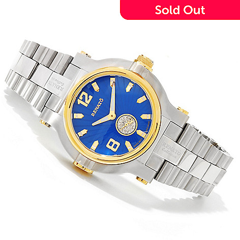 607-685 - Renato Men's Diamond Beast Swiss Quartz Two-tone Bracelet Watch