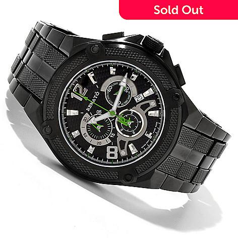 607-687 - Renato 50mm Cougar Swiss Quartz Chronograph Stainless Steel Bracelet Watch