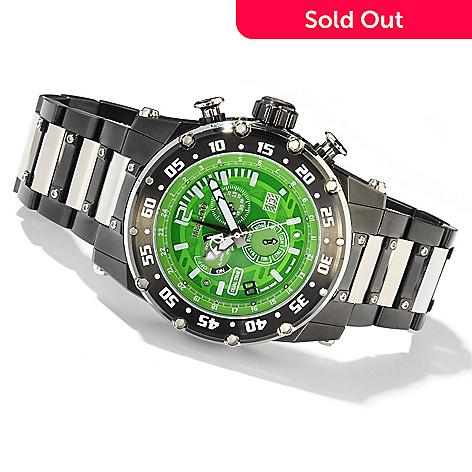 607-696 - Renato 50mm Buzo Extreme Swiss Quartz GMT Multifunction Bracelet Watch