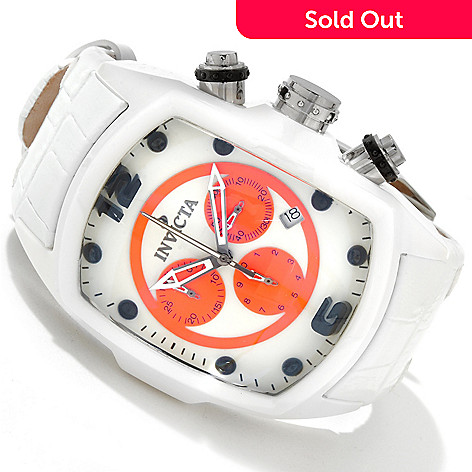 607-710 - Invicta Men's Lupah Revolution Limited Edition Lume Dial Leather Strap Watch
