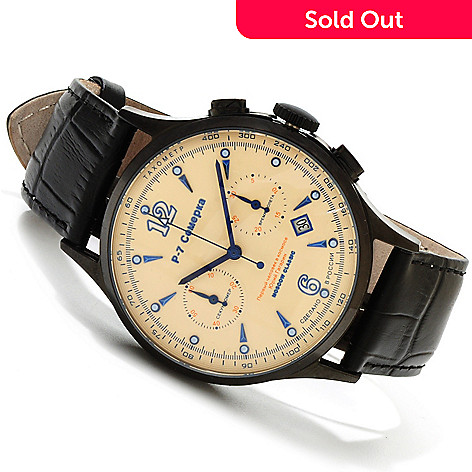 607-718 - Moscow Classic Men's P7 Mechanical Chronograph Strap Watch