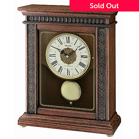 607-727 - Seiko Musical Classic Grand Swinging Pendulum Wooden Mantel Clock