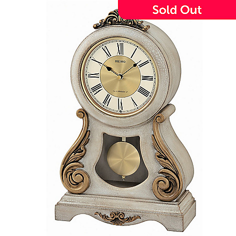 607-728 - Seiko Musical Antique-Style Grand Swinging Pendulum Wooden Mantel Clock