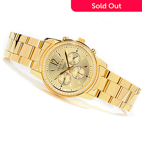 607-731 - Invicta Women's Angel Simulated Diamond Accented Bezel Bracelet Watch
