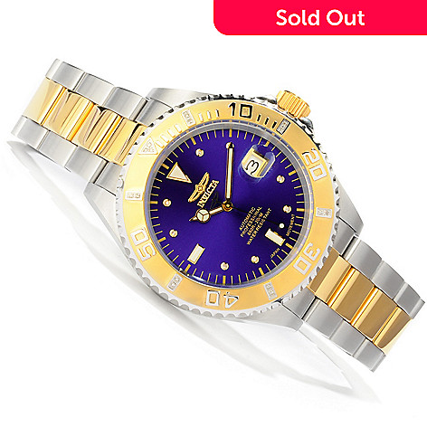 607-732 - Invicta Men's Pro Diver Automatic Diamond Accented Bracelet Watch