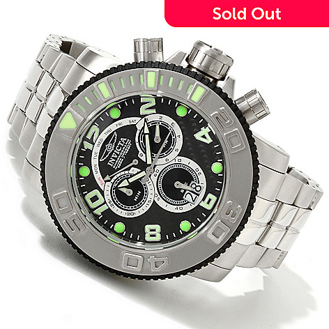 607-744 - Invicta 58mm Sea Hunter Swiss Quartz Chronograph Carbon Fiber Bracelet Watch