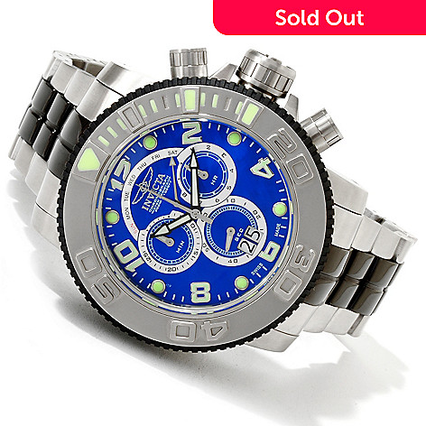 607-747 - Invicta Men's Sea Hunter Swiss Quartz Chronograph Mother-of-Pearl Dial Bracelet Watch