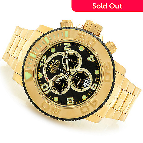607-748 - Invicta 58mm Sea Hunter Swiss Quartz Chronograph Mother-of-Pearl Dial Bracelet Watch