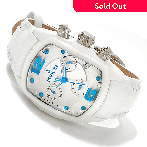 607-752 - Invicta Women's Lupah Revolution Quartz Chronograph Ceramic Leather Strap Watch
