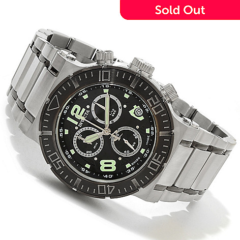 607-754 - Invicta Reserve Men's Ocean Reef Swiss Chronograph Bracelet Watch w/ 8-Slot Dive Case