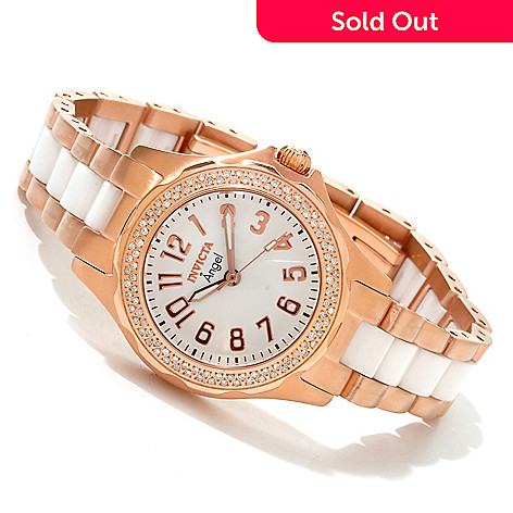 607-764 - Invicta Women's Angel Classique Diamond Accented Bracelet Watch w/ Collector's Box