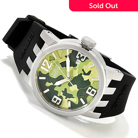 607-777 - Invicta Women's DNA Camo Stainless Steel Silicone Strap Watch
